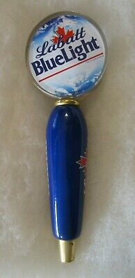Large Labatt Blue Light Beer Tap Handle With 10 Coasters