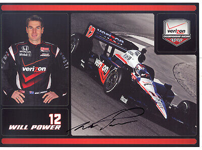 "Will Power Autographed Team Penske 2010 IndyCar Indy 500 6.5"" x 9"" Hero Card!"