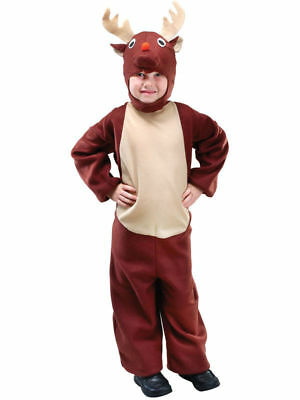 Cute Toddler Reindeer Fancy Dress Costume Age 18 Months - 3 Years - New & Sealed