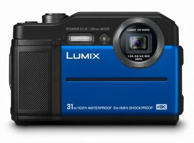Panasonic DC-FT7EB-A 4K Waterproof Tough Digital Camera 20.4MP Blue