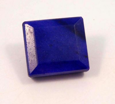 Dyed Faceted Blue Sapphire Cut Loose Gemstone 85 ct 25X23 mm  RM13034