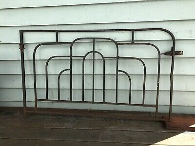 VINTAGE ART DECO WROUGHT IRON METAL HOUSE DRIVEWAY GATE Garden Trellis