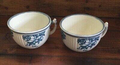 Pair of Wedgwood Antique/Vintage Blue and White Chamber Pots