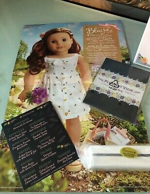 "American Girl Blaire/'s farmhouse restaurant placemat poster picture NEW 18/"" doll"