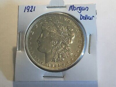 "1921 US  ""Morgan Dollar"". ""D"" Mint mark."