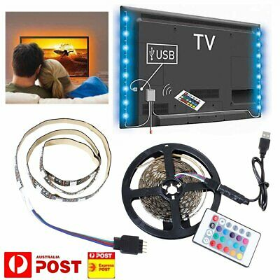 1M-5M RGB 5050 LED Strip Light 5V USB Color Changing TV PC Back Lighting Remote