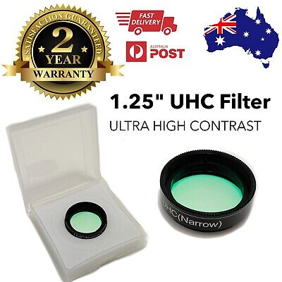 "1.25"" UHC Filter for telescope eyepiece -Cuts light pollution deep sky astronomy"