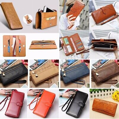 Women Leather Wallet Long Purse Card Holder Case Phone Clutch Zip Handbag