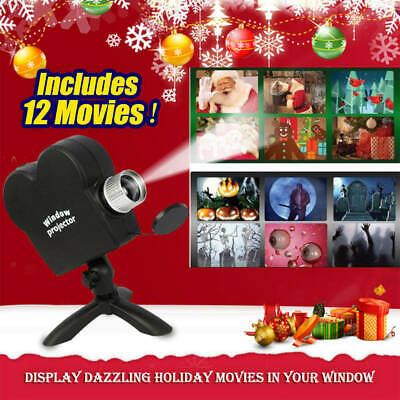 Star Shower Window Wonderland Projector System 6 Halloween 6 Christmas Movies xx