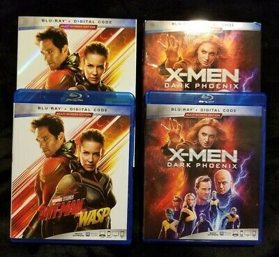 X-Men Dark Phoenix Ant-Man & the Wasp 2019 blu ray  marvel slipcover NO DIGITAL