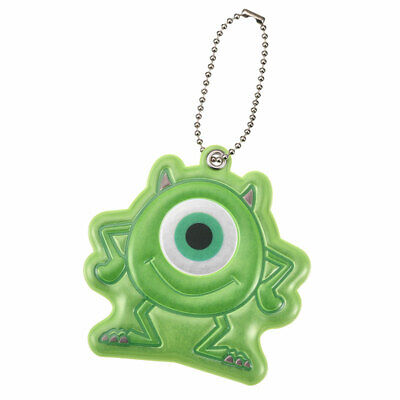 Monsters Inc Mike Keychain Key Holder Die-Cut Reflective Disney Store Japan