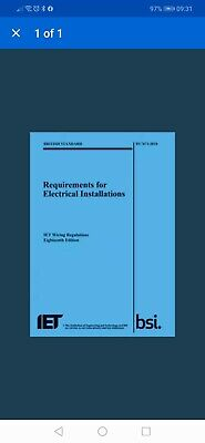 The IET 18th Edition Wiring Regulation Book - BS 7671:2018 Electrical Regs BLUE