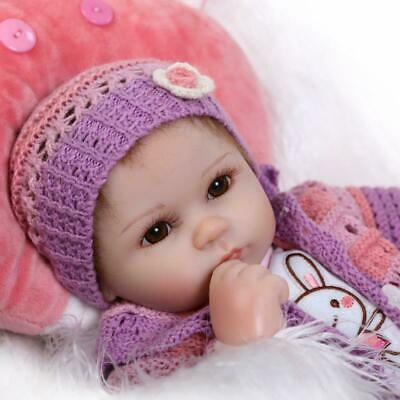 """18"""" Real Newborn Size Reborn Baby Dolls Girl Weighted Body with Pillow Lifelike"""