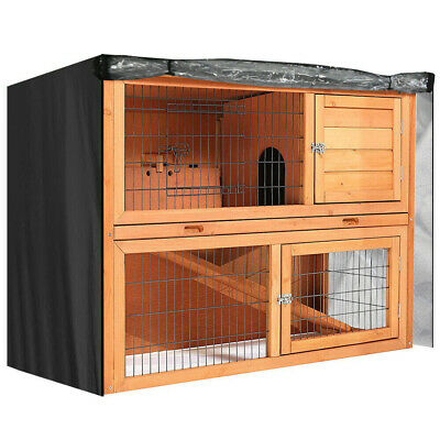 4Ft 2 Tiers Large Rabbit Hutch Cover Bunny Pet Cage Double Decker Rain Protector