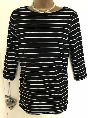 Blooming Marvellous Mothercare black & white striped maternity top size s