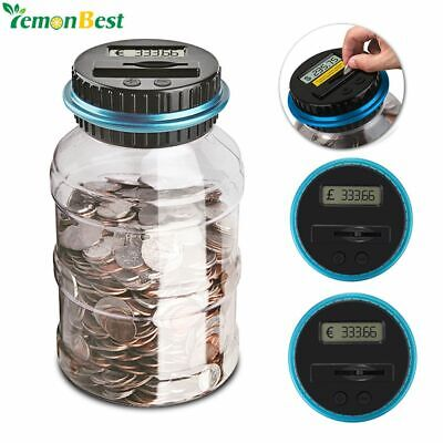 Piggy Bank Coin Counter Digital Money Jar Counting Lcd Saving Electronic Display