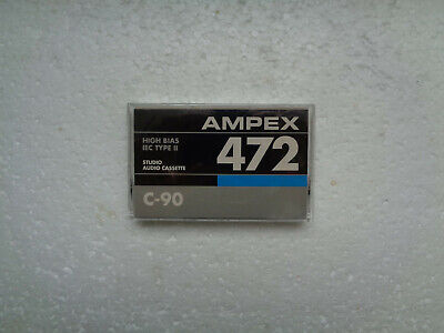 Vintage Audio Cassette AMPEX 472 C-90 * Rare From USA 1985 *