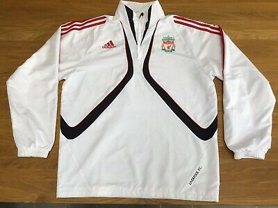 Immaculate 2009 Liverpool FC White Windbreaker/Jacket Adult Large Adidas Rare