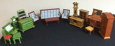BUNDLE of Traditional Wooden Dolls House Furniture WA