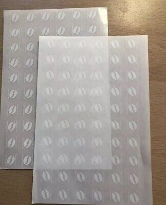 120 X McDonalds Coffee Bean Loyalty Stickers McCafe 31/12/20 expiry date
