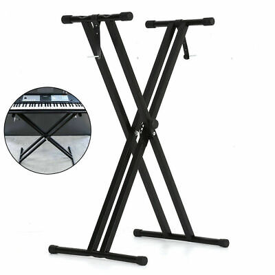 Frame Keyboard X Stand Adjustable Folding Piano Height Braced Double holder UK