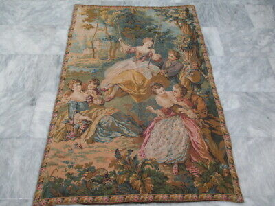 5017 - Old French / Belgium Tapestry Wall Hanging - 140 x 94 cm