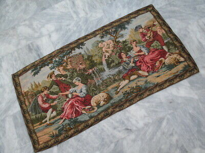 5015 - Old French / Belgium Tapestry Wall Hanging - 150 x 77 cm