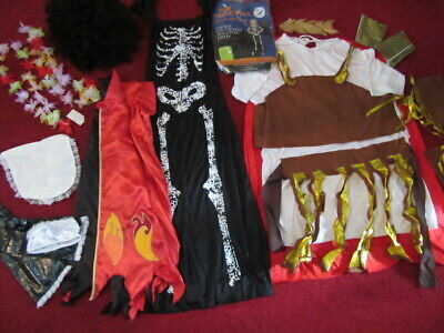 Large Mixed Bundle Of Halloween Costumes And Props See Details For More Info