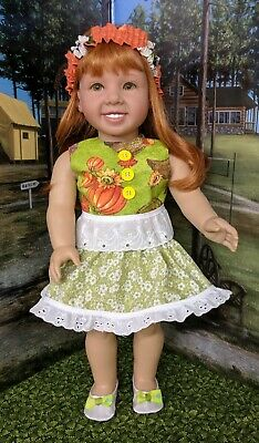 """Seven-Piece FALL IS FINALLY HERE outfit fits18"""" American Girl doll"""