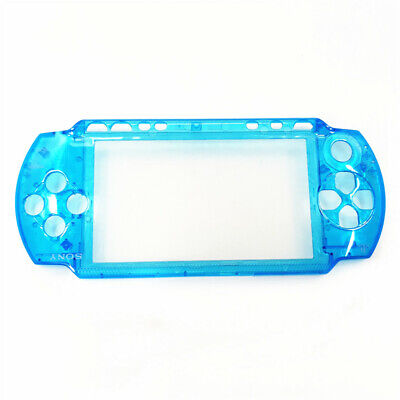 Clear Blue Top Housing Shell Case for Sony PSP 1000 Game Console