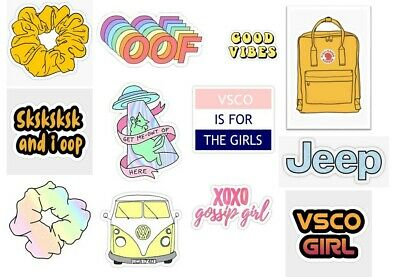 VSCO GIRL Style STICKERS Stickers Mixed bottles bag suitcases walls books