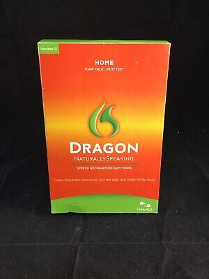 Nuance Dragon NaturallySpeaking 11 Speech Recognition Software Home Talk To Text