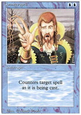 1x Counterspell NM-Mint, English 3rd Edition Revised MTG Magic