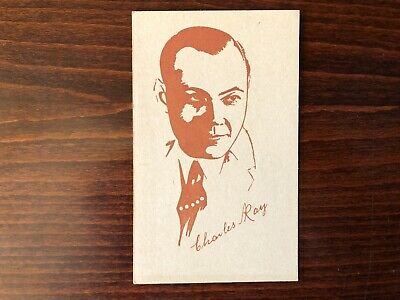 CHARLES RAY Rare Caricature Trading Card Silent Film Actor 1920