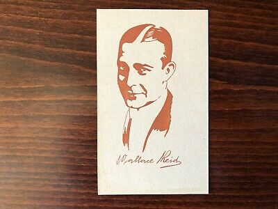 WALLACE REID Rare Caricature Trading Card Silent Film Actor 1920