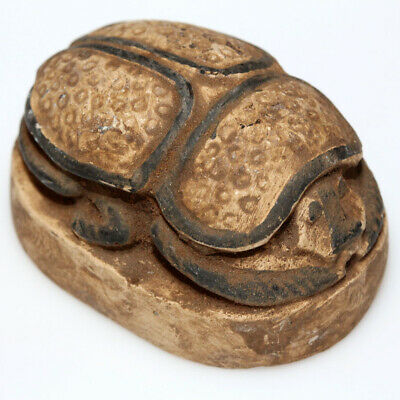 Scarce Egyptian Stone Scarab Bead Seal Circa 1000-500 Bc - Large Size
