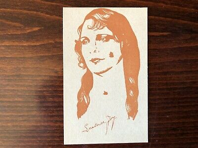 LEATRICE JOY Rare Caricature Trading Card Silent Film Actress 1920
