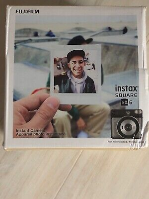 Fujifilm instax SQUARE SQ6 Instant Film Camera (Graphite Gray) with 2 Pack Film