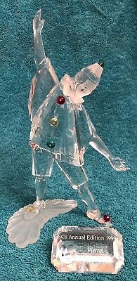 Swarovski Crystal 1999 Annual Edition Pierrot With Title Plaque