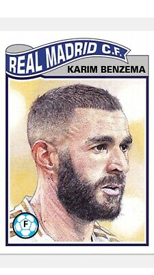 Topps Ucl Soccer Living Set Card Real Madrid C.f. Karim Benzema #75