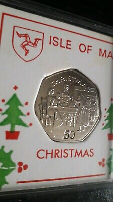 Isle Of Man 1998 Stirring Christmas Pudding Christmas 50P Coin UNC V. G. C.