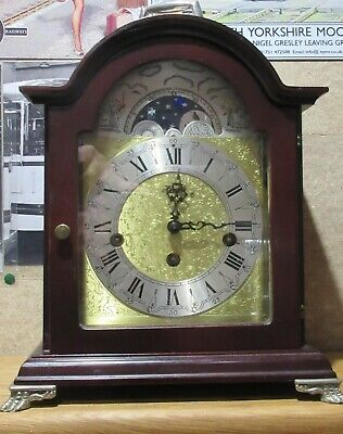Franz Hermle mantel clock with moon phase