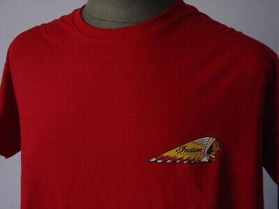 INDIAN ★ Heavy T-Shirt * NEU * Motorcycle * Motorrad * UK * Oldtimer * tango red