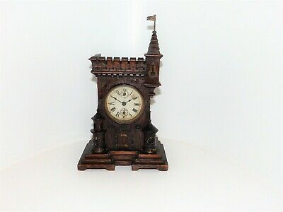 Rare Castle/Gothic Mantle  Clock Fine Detail
