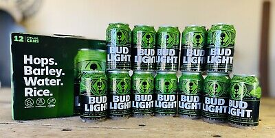 Bud Light Green Alien Area 51 Can Limited Edition Empty Earth Cans