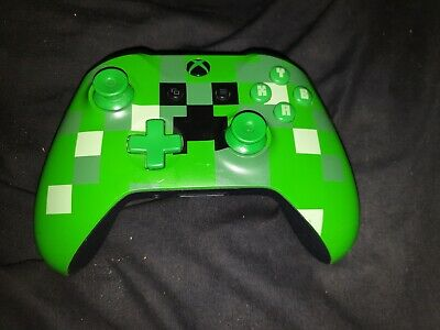 Official Microsoft Xbox One Controller Green Minecraft Creeper Edition