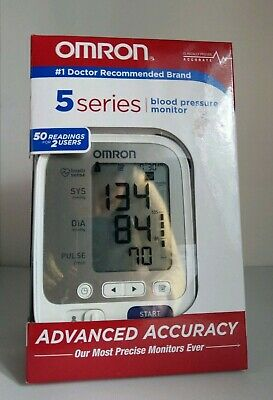 * Omron 5 Series Upper Arm Blood Pressure Monitor; 2-User, 100-Reading Memory,