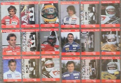 1991 F1 Carms Sports Cards Inaugural Edition Complete Set (Very Rare)