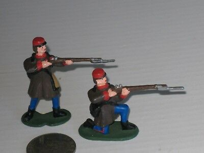 "Civil War Riflemen, 2"" Tall,  Lot Of 2, Detailed; Train Layout; Historic Diorama"