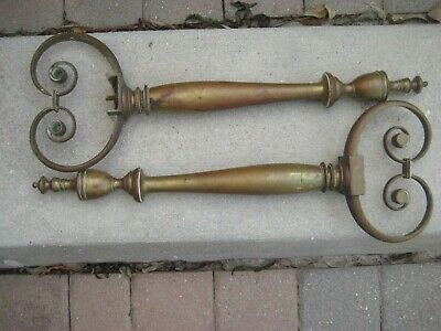 Vintage -Antique / Brass Ornate Andrion Ends / Architectural Salvage